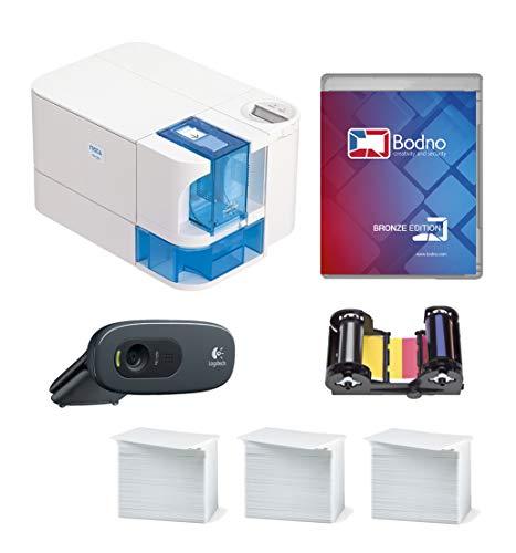 Nisca PR-C101 ID Card Printer & Complete Supplies Package wi