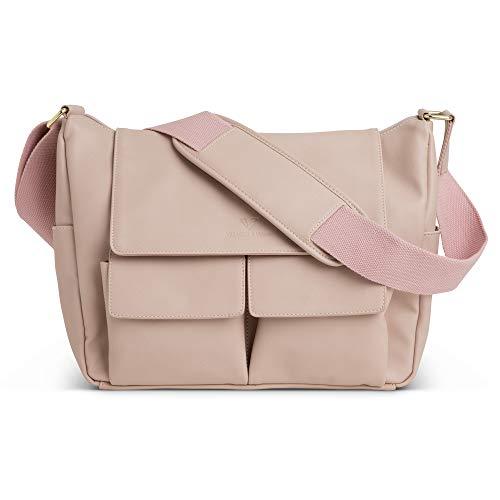 DSLR Shoulder Camera Bag for Women, PU Leather, Blush Pink -