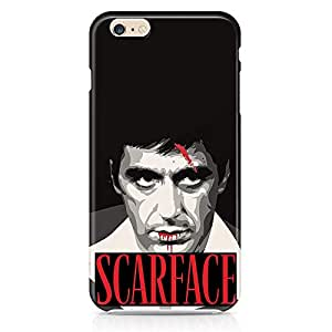 Loud Universe Tony Montana Face iphone 6 plus Case Scarface Movie Art iphone 6 plus Cover with 3d Wrap around Edges