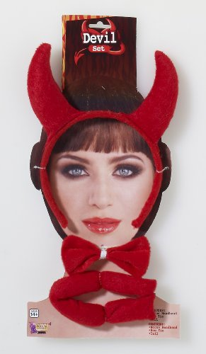 Devil Horns Costumes Accessories (Forum Novelties Women's Devil Accessory Kit, Red, One Size)