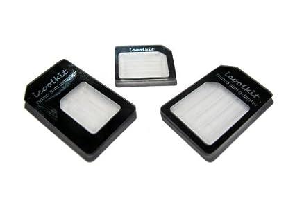 Amazon.com: icoolkit Nano a Micro/Standard SIM adaptador de ...