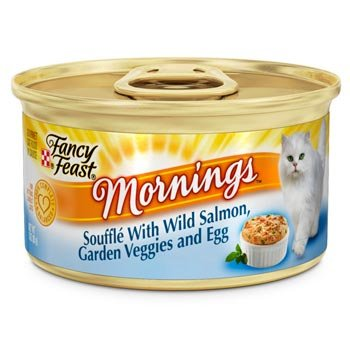 Fancy Feast Mornings Souffle with Salmon, Garden Veggies and Egg Gourmet Cat Food, Case of 24, My Pet Supplies