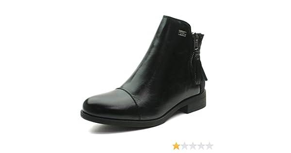 MS033 Miss Sixty Ankle Boot w/side zip Girls in Black Lace Effect Tamaño 28