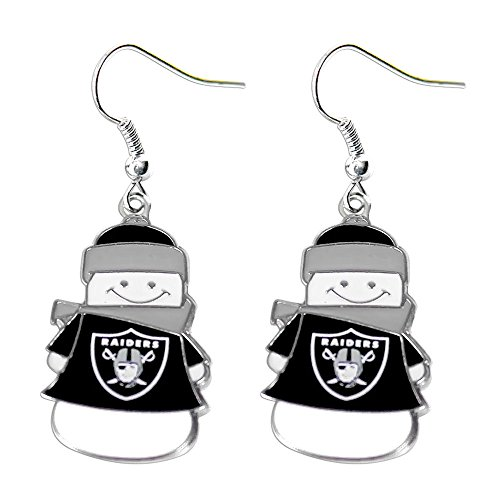 NFL Oakland Raiders Snowman Earrings
