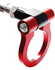 iJDMTOY Compatible With Subaru BRZ Impreza WRX STi, Scion FR-S Toyota 8, Red Lightweight Aluminum Sports Racing Front Tow Hook Ring