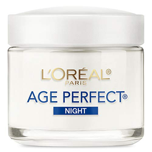 Night Cream By Loréal Paris Skin Care, Age Perfect Anti-Aging Night Cream Face Moisturizer With Soy Seed Proteins, 3.4 Oz