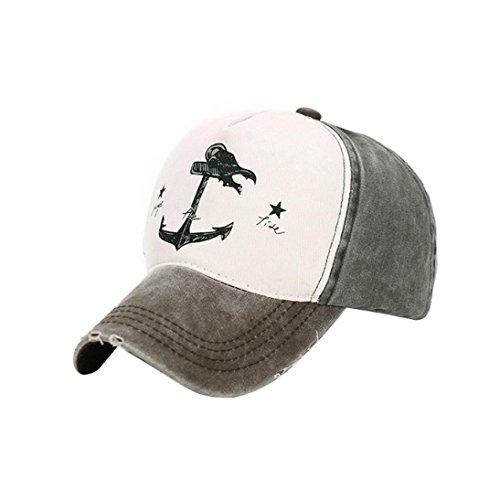 Goodsatar Hombres Mujer Gorra de beisbol Deportes al aire libre casuales Sombreros Snapback (Marrón) Marrón