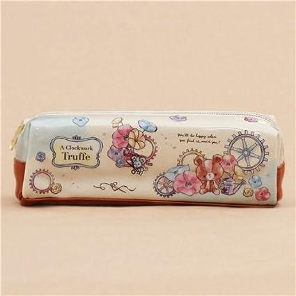 Estuche lápices crema juguete animal flor gato oso colores de Kamio Japón: Amazon.es: Juguetes y juegos