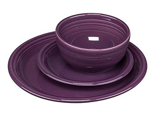 Fiestaware 3 Piece Bistro Set Mulberry 1482343 (Dinnerware Set Bistro)