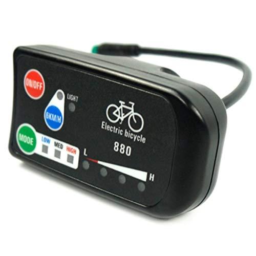 Casinlog Elektrische fietsdisplay 24 V 36 V 48 V Ebike Ligent Control Panel LCD-display LED880 waterdichte controller…