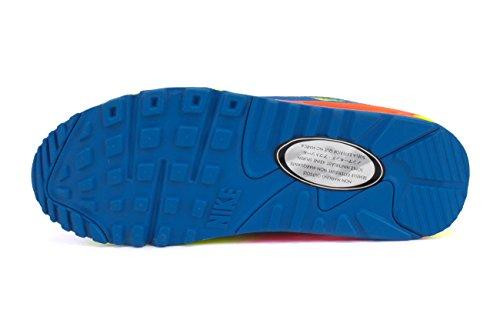 Nike Air Max 90 (grands Enfants) Photo Bleu / Hyper Crimson-volt