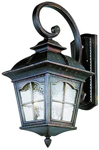 Trans Globe Lighting Trans Globe Imports 5424 AR Traditional Four Light Wall Lantern from Briarwood Collection in Bronze Dark Finish, 30-Inch, Antique Rust