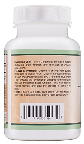 Uridine Monophosphate (Choline Enhancer) 300mg 50 Capsules Made in USA