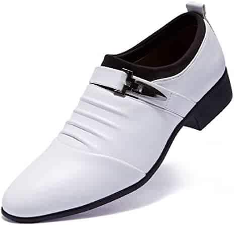 00bc125f3f32 Loafers Oxford Men's Dress Shoes Buckled Formal Wedding Shoes for Men