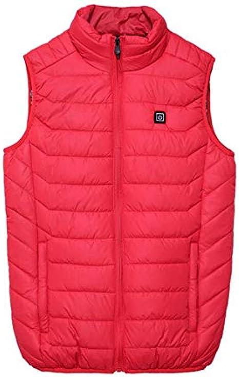 Women Electric Heating Vest Winter Warm Waistcoat Ladies Jacket Coat Gilet Top