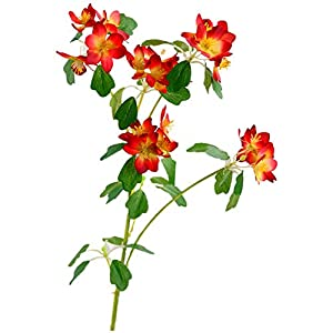 ZJJZH Artificial Decorative Flowers Simulation Flower Home Small Fresh Decoration Elegant Small Flowers Freesia Living Room Elegant Flower Table Coffee Table Decoration Artificial Flowers.