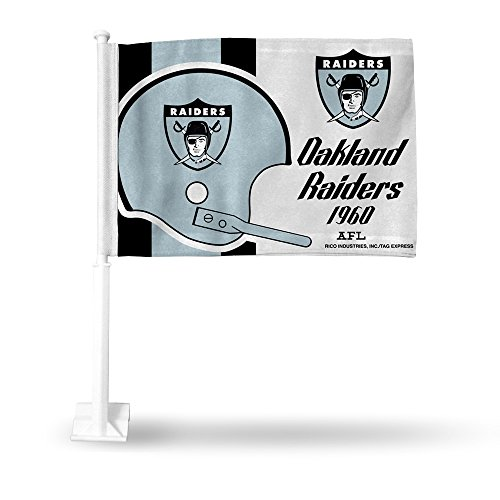 Oakland Raiders Retro Car Flag
