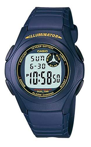 Casio Men's F-200W-2B Blue Resin Digital LCD Sports Watch