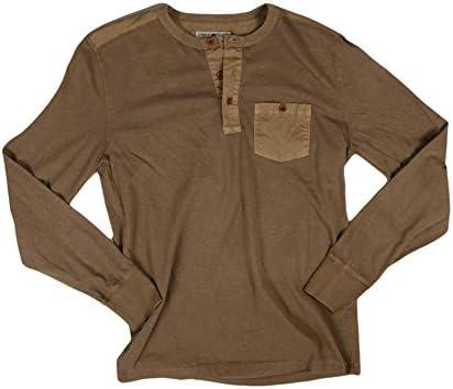 Lucky Brand Mens Three-Button Henley Shirt Lucky Brand Men/'s Collection 7M61551