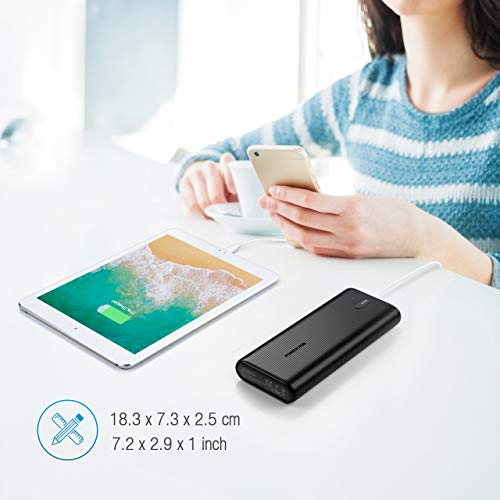POWERADD Batterie Externe 26800mAh PD 30W + 18W USB A Charge Rapidement USB C Power Delivery Chargeur Portable pour Macbook Samsung Huawei iPad Tablette Smartphone PC