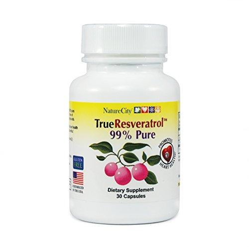 True Resveratrol - 99% Pure Trans-Resveratrol - 30 Veggie (99 Trans Resveratrol)
