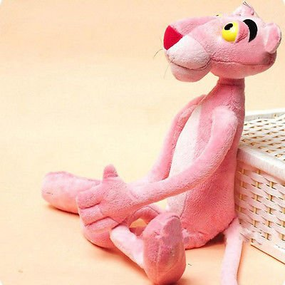 (Baby Toys Plaything Cute Naughty Pink Panther Plush Stuffed Doll Toy Home Decor)