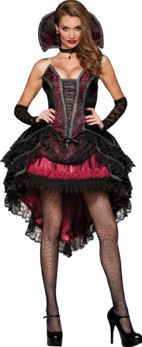 [InCharacter Costumes Women's Vampire's Vixen Costume, Black/Red, Small] (Sexy Monster Halloween Costumes)