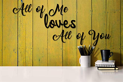 (Tak n Stik All of me Loves Wall Quotes Sayings for Family Home College Dorm NOT Vinyl Decal or Peel Stick Removable Using Sticky Putty Paintable Reusable Wall Décor Gift )