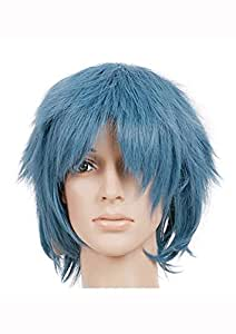 Blue Green Teal Short Length Anime Cosplay Costume Wig