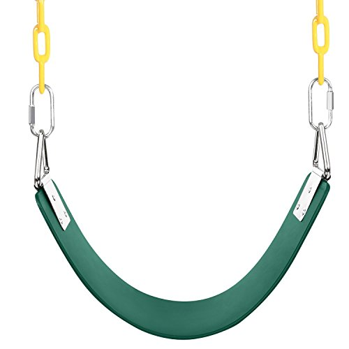 Lantusi Swing Seat - Heavy Duty Swing Set Accessories Swing Seat Replacement with Coated Iron Chains (US Stock)