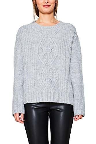 Grey light Edc Esprit Donna Grigio Felpa By 040 wOqYg1