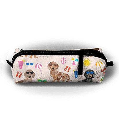 Sausage Dog Dachshund Ladies Makeup Pencil Pouch Accessory Bag Premium Accessories For (Ginger Sausage)