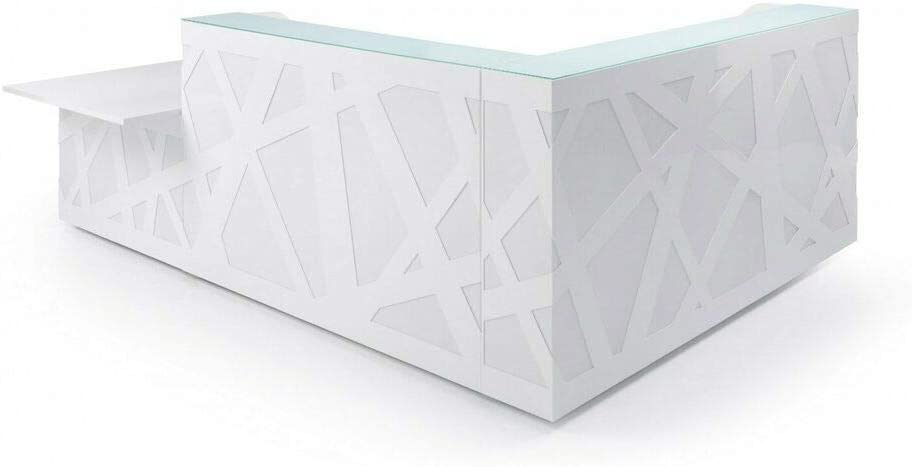 """103"""" L Shape Reception Desk with Counter Top Zig-Zag"""