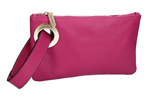 Tasche damen mini PIERRE CARDIN pochette fuchsie leder Made in Italy VN1010