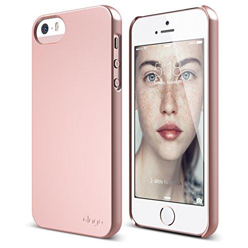 iPhone SE case, elago [Slim Fit 2][Soft Feel Rose Gold] - [Light][Minimalistic][True Fit] - for iPhone SE/5/5S