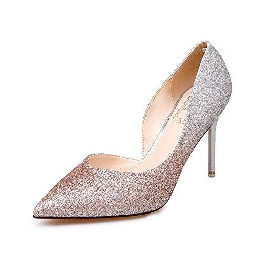 Con Zapatos Mujer Degradado Degradado Color GAOLIM Boda De Zapatos Zapatos Ultra Tacón Alto De Fina De De Zapatos champán Con Mujer Pdw4xB