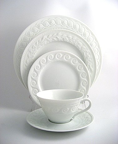 Bernardaud Louvre White Dinner Plate