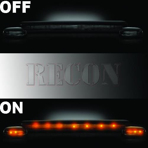 Recon 264156BK Smoke Cab Roof Light Lens
