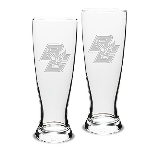 - NCAA Boston College Eagles Adult Set of 2 - 23 oz University Pilsners Deep Etch Engraved, One Size, Clear