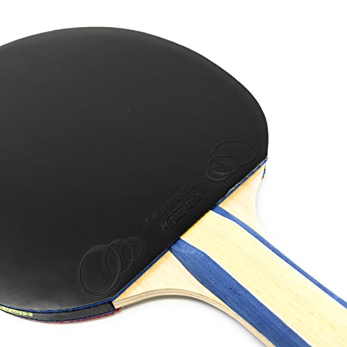 MightySpin Thunder Table Tennis Rubber - Ping Pong Paddle Professional Rubbers Offensive Racket Custom Rubber Your Blade (Black)