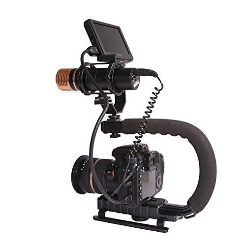 LeaningTech Handheld Schwebestativ Stabilisierung Stabilizer Henkelgriff für Canon Nikon Sony DSLR Camcorder Kamera DV