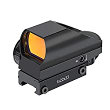 OTW RS-25 1x22x33mm Reflex Sight, Multiple Reticle Red Dot Sight with Picatinny Rail Mount, Absolute Co-Witness