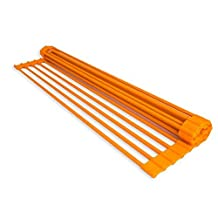 Domestic Corner - Dish Rack - Over-the-Sink Roll-Up Drying Rack - Orange by Domestic Corner