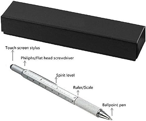 Puntero Óptico Multifuncional y Versátil 6 en 1 Bolígrafo Multiuso con Caja de Regalo -Incluye 1 bolígrafo, Puntero Óptico Universal, Regla, 2 Destornilladores, Indicador de nivel: Amazon.es: Electrónica