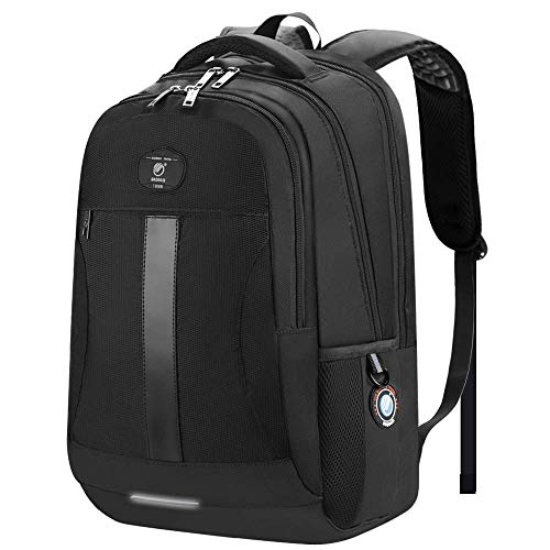 Laptop Backpack, Sosoon Business Bags with USB Charging Port Anti-Theft Water Resistant Polyester School Bookbag for College Travel Backpack for 15.6-Inch Laptop and Notebook, Black ()