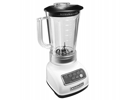 KitchenAid KSB1570 5-Speed Blender with 56-Ounce BPA-Free Pitcher 2 Stainless Steel Blade Intelli-Speed Motor Control Soft Start Feature; Jar Style : Round