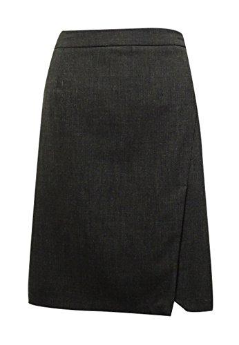 Laundry Women's Gabardine Slit SidePencil Skirt (10, Charcoal)