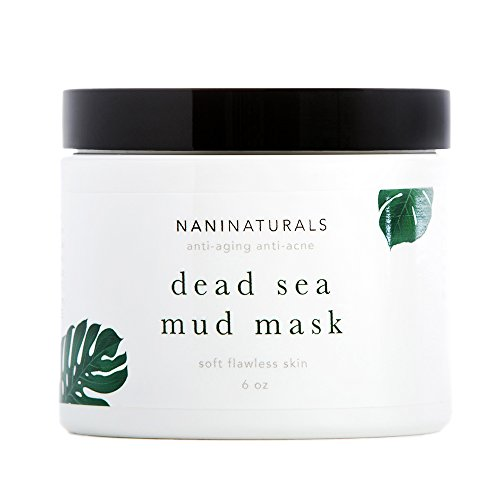 Nani Naturals Dead Sea Mud Mask Facial Treatment, 6 Ounces, Organic, Made in USA (Dead Sea Gift)