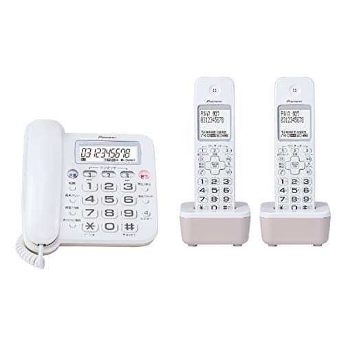 [해외]파이오니어 디지털 무선 자동 응답 전화기 (자기 두) 화이트 Pioneer TF-SA16T (W) / Pioneer Digital Cordless Answering Machine (2 handset) White pioneer TF-SA16T (W)