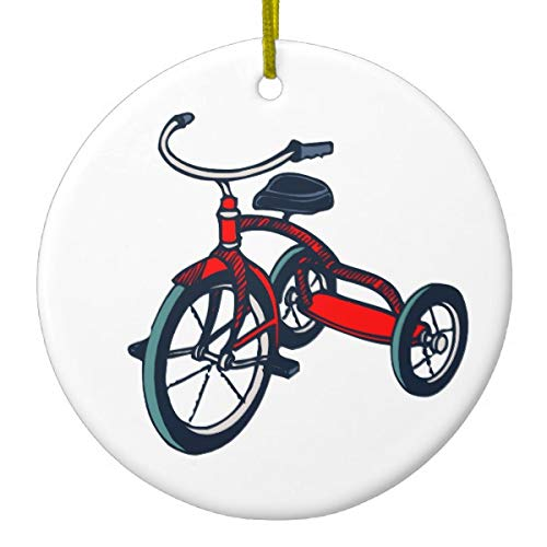 Yilooom Tricycle Round Ornament